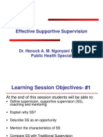 Effective Supportive Supervision