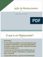 classificação de restaurantes