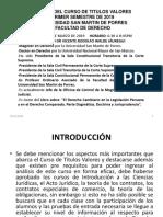 CLASES DEL CURSO DE TITULOS VALORES I