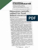 Manila Standard, Jan. 27, 2020, Navotas sends relief to Taal blast evacuees.pdf