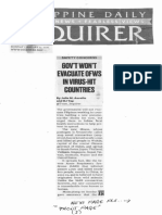 Philippine Daily Inquirer, Jan. 27, 2020, Govt wont evacuate OFWs in virus-hit countries.pdf