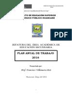 plan secundaria IESPPH 2016