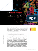blue nine and red words