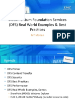 DFS Real World Examples, Best Practices Mohen FINAL EMC World 2010 Boston
