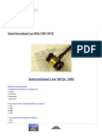 Solved International Law MCQs (1991-2013) _ SOLVED MCQs FOR ALL
