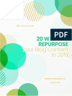 20 Ways to Repurpose Your Blog Content in 2019