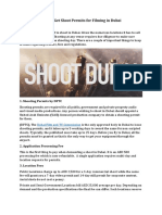 All you need to know about shoot permits in Dubai