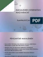 EpidAdm_3 Pengantar Manajemen Kesehatan