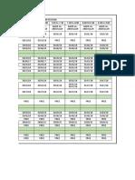 december working sheet