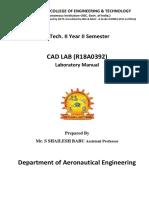 CAD LAB MANUAL 2019-20