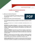 GESTIÓN DE PROTECTOS - EXAMEN 1