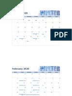 2020 Seasonal photo calendar