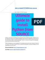 Ultimate Guide to Install PYTHON From Source