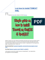 Simple Guide on How to Install TOMCAT on CentOS_RHEL