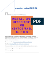 Install EPEL Repository on CentOS_RHEL 6, 7 & 8