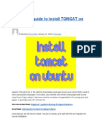Beginner's Guide to Install TOMCAT on UBUNTU