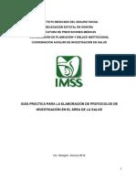 Guiìa protocolos de investigación IMSS 2016