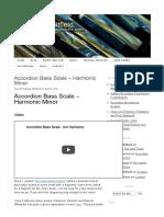Accordion Bass Scale - Harmonic Minor - George Whitfield