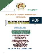 A report on webpage creation on p.g center chitradurga,davanagere university dav