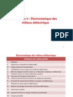 5 Electrostatique des milieux diéléctriques