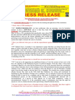 20200127-PRESS RELEASE Mr G. H. Schorel-Hlavka O.W.B. ISSUE – Re Water & Australia's Political System Versus TDS