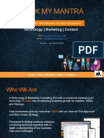 Book My Mantra - Technology & Marketing Services Platform
