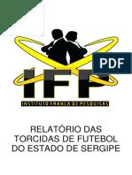 Relatório das torcidas de futebol do Estado de Sergipe