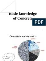 Basic knowledge of concrete