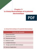 1 Le champ éléctrostatique et le potentiel éléctrostatique