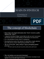 Blockchain and its impact on fintech companies