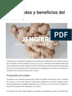 Propiedades y beneficios del jengibre