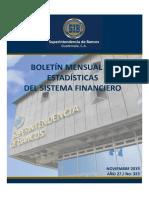 11 Boletín Mensual de Estadísticas Noviembre 2019