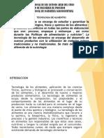 TECNOLOGIA DE ALIMENTOS - SEMESTRE 2017-II.pptx
