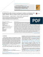 Examining the effect of adverse geological conditions on jamming of a single shielded TBM in Uluabat tunnel using numerical modeling