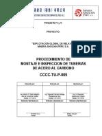CCCC-TU-P-005 Procedimiento de Montaje de Tuberias de Acero al Carbono-TK 68, T 69