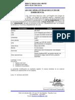 certificado luces de emergencia estetica 2020