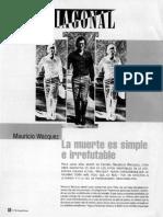 Diagonal - Mauricio Wacquez, La muerte es simple e irrefutable