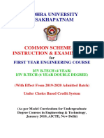 New Scheme of Syllabus for B.Tech. First Year w.e.f. 2019-2020