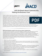 Communicating With the Board About Cybersecurity Making the Business Case