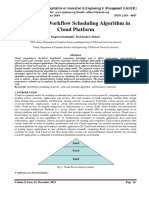 Review on Workflow Scheduling Algorithm in Cloud Platform