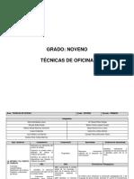TECNICAS DE OFICINA NOVENO GRADO