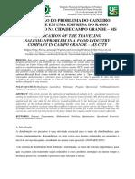PLICAÇÃO DO PROBLEMA DO CAIXEIRO VIAJANTE EM UMA EMPRESA DO RAMO ALIMENTÍCIO NA CIDADE CAMPO GRANDE – MS