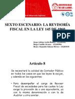 SEXTO ESCENARIO LA REVISORÍA FISCAL EN LA LEY 145 DE 1960.pptx