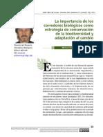 La importancia de los corredores biologicos como estrategia de conservacion  de la biodiversidad y adaptacion al CC