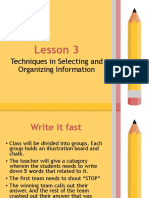 Lesson 3 Selecting and Organizing Information.pptx
