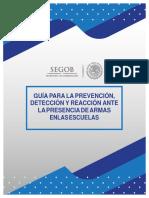 Guia para la prevencion, deteccion y reaccion ante la presencia de armas en las escuelas