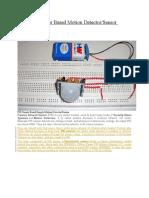PIR Sensor Based Motion Detector