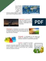 Geografía Astronomía Climatología Demografía  Economía