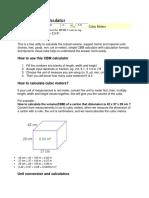 Cubic Meter Calculator
