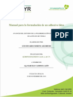 Formulación de adhesivo de poliacetato de vinilo